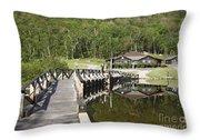Crawford Notch State Park - White Mountains Nh Usa Throw Pillow