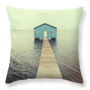 Crawley Edge Boatshed Throw Pillow by Yew Kwang