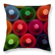 Crayon Tips 1 A Throw Pillow