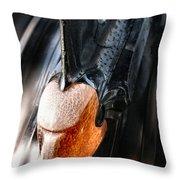 Crazed Warrior Throw Pillow
