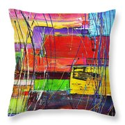 Crazy Abstract Throw Pillow