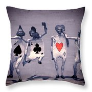 Crazy Aces Throw Pillow by Bob Orsillo