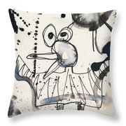 Crazy Bird Throw Pillow