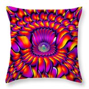 Crazy Boy Throw Pillow