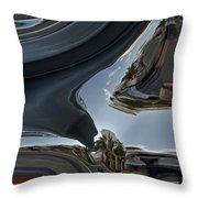 Crazy Chrome Throw Pillow
