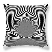 Crazy Circles Throw Pillow by Methune Hively