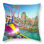 Crazy Coaster Throw Pillow by Adrian Chesterman