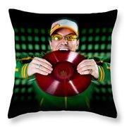 Crazy Dj Throw Pillow