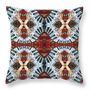 Crazy Fingers Piano Tiled Throw Pillow