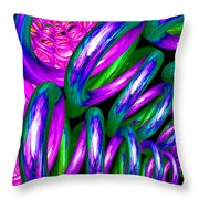 Crazy Helter Skelter Throw Pillow
