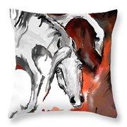 Crazy Horse 7 Throw Pillow