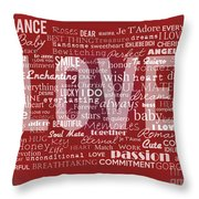 Crazy Love Throw Pillow