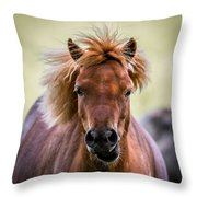 Crazy Mane Throw Pillow