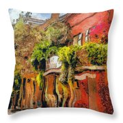 Crazy Whimsy Wacky New Orleans Throw Pillow by Christine Till