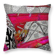 Crazyconered Throw Pillow