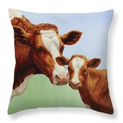 Cream And Sugar Throw Pillow by Crista Forest