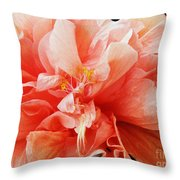 Creamsicle Crepe Paper Throw Pillow