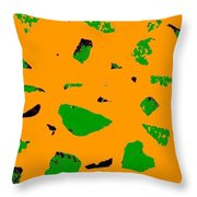 Creamsicle Orange Abstract Throw Pillow