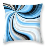 Creamy Blue Graphic Throw Pillow