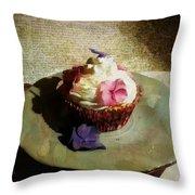 Creamy Cake Throw Pillow