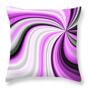 Creamy Pink Graphic Throw Pillow