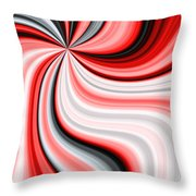 Creamy Red Graphic Throw Pillow