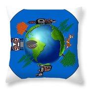 Creation Day Six Throw Pillow