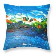 Creation II Throw Pillow