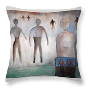 Creation Of Man And Woman Throw Pillow