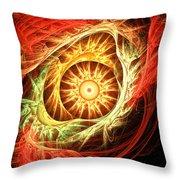 Creation Of Sun Throw Pillow by Lourry Legarde