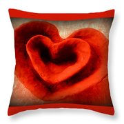 Creative Heart Ceramic Bowl Throw Pillow