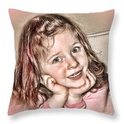 Creative Portrait Sample In Hdr Throw Pillow