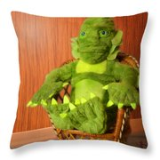 Creature From The Groovy Lagoon Throw Pillow