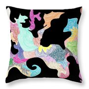 Creature Of Color Throw Pillow