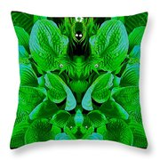 Creatures In The Green Fauna Throw Pillow