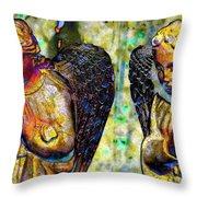 Creche Angels 5 Throw Pillow