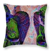 Creche Angels 9 Throw Pillow