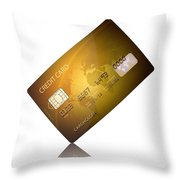 Credit Card Throw Pillow by Johan Swanepoel