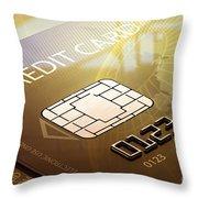 Credit Card Macro - 3d Graphic Throw Pillow