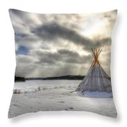 Cree Tepee Throw Pillow