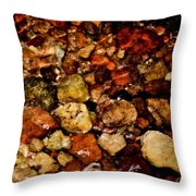 Creek Rocks Throw Pillow