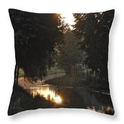 Creek Sunrise Throw Pillow