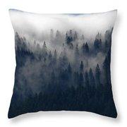 Creeping Clouds Throw Pillow