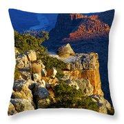 Creeping Morning Canyon Light Throw Pillow