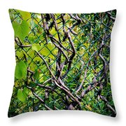 Creeping Vines Throw Pillow