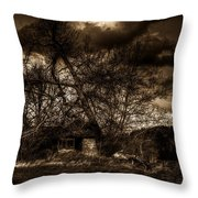 Creepy House One Throw Pillow