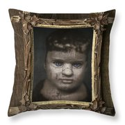 Creepy Relative Throw Pillow by Edward Fielding