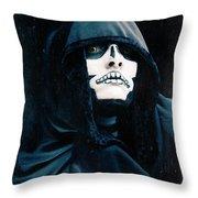 Creepy Skeleton Throw Pillow