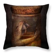 Creepy - Tonight We Eat Snake  Throw Pillow by Mike Savad