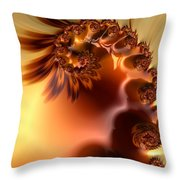 Creme Brulee  Throw Pillow by Heidi Smith